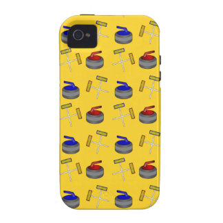 Yellow curling pattern Case-Mate iPhone 4 cases