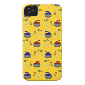 Yellow curling pattern iPhone 4 covers
