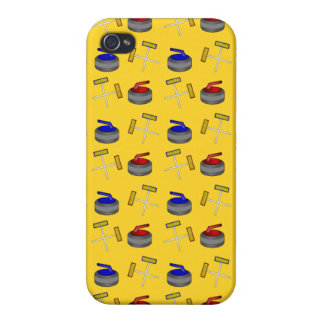 Yellow curling pattern cases for iPhone 4
