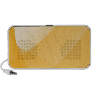 Yellow curves portable speaker