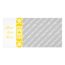 Yellow   Custom Color Damask Pattern Card