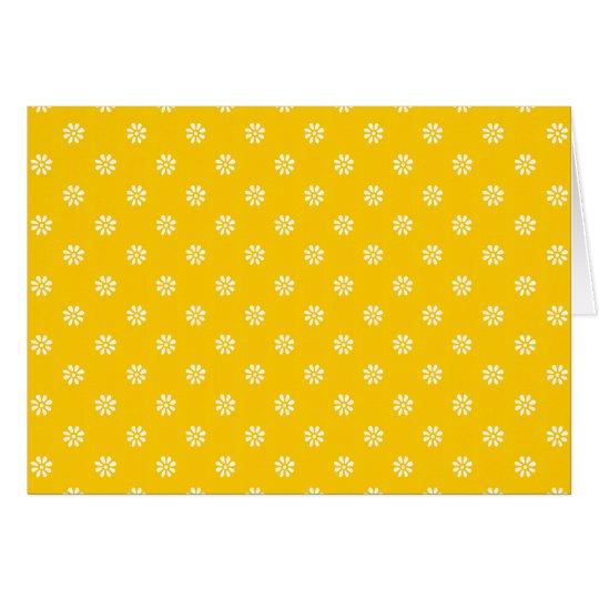 Yellow + Custom Color Flower Dot Card
