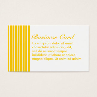 Yellow + Custom Color Narrow Stripes Business Card