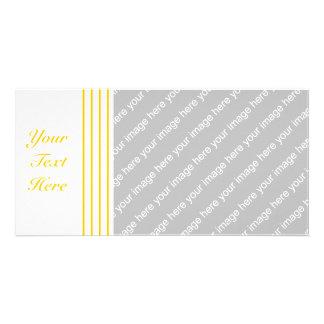 Yellow + Custom Color Narrow Stripes Card