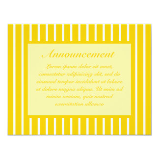 Yellow + Custom Color Narrow Stripes Card