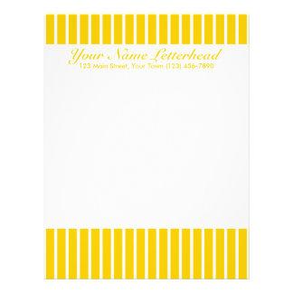 Yellow + Custom Color Narrow Stripes Letterhead