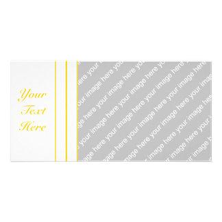 Yellow + Custom Color Pin Stripes Card