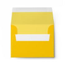 Yellow Custom Envelope with Pre-Printed Address