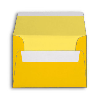 Yellow Custom Envelope with Pre-Printed Address