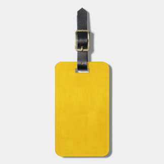 Yellow Custom Grunge Watercolor Texture Luggage Tag