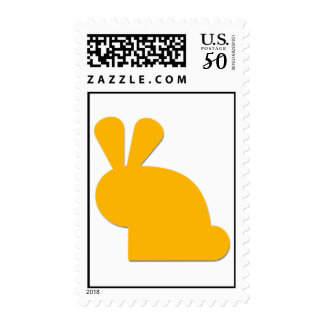 {Yellow} Cute Bunny Postage