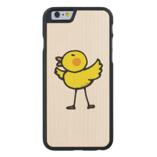 yellow cute chick carved® maple iPhone 6 slim case