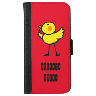 yellow cute chick iPhone 6 wallet case
