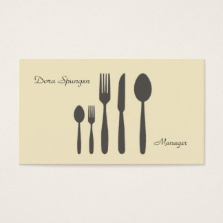 Yellow Cutlery Business Card
