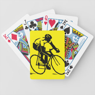 Yellow Cycling Bicycle Playing Cards