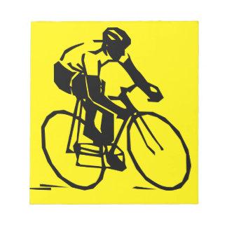 Yellow Cycling Notepad