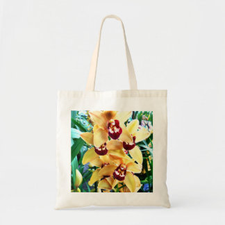 Yellow Cymbidium Orchids Tote Bag