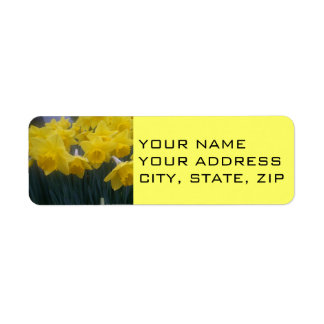 Yellow Daffodil Address Labels