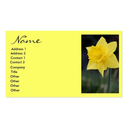 Yellow Daffodil Business Card
