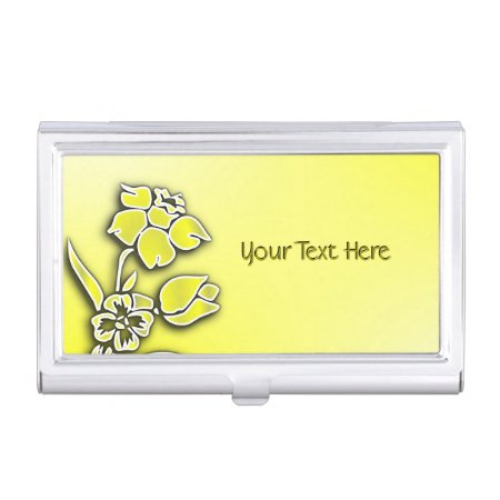 Yellow Daffodil Business Card Case