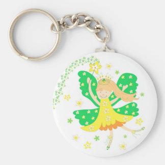 Yellow daffodil fairy - Keychain
