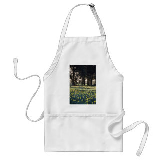 yellow Daffodil field flowers Adult Apron