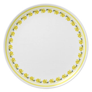Yellow Daffodil - Floral Photography Cut Out Melamine Plate