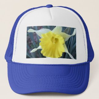 Yellow Daffodil Flower Floral Macro Trucker Hat