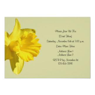 Yellow Daffodil Flower Invitation