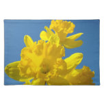 Yellow Daffodil Flowers Placemats Blue Sky Spring