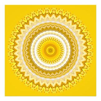 Yellow Daffodil Mandala Pattern (XL) Photo Print
