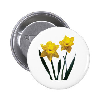 Yellow Daffodil Pair Pinback Buttons