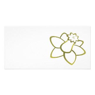 Yellow Daffodil Photo Card Template