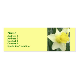Yellow Daffodil Profile Card Double-Sided Mini Business Cards (Pack Of 20)
