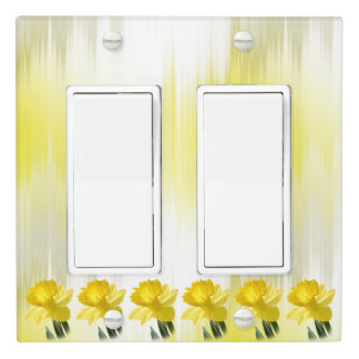 Yellow Daffodil Spring Flower Pic (2) Light Switch Cover