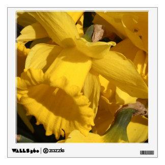 yellow daffodil wall decal