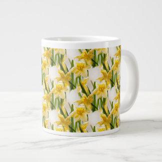Yellow Daffodil Wallpaper Pattern Giant Coffee Mug