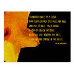 Yellow Daffodil; William Wordsworth Poem Postcard