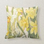 Yellow Daffodills Throw Pillow