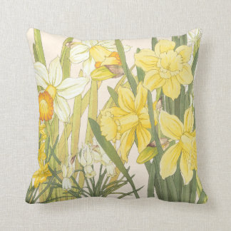 Yellow Daffodills Throw Pillow