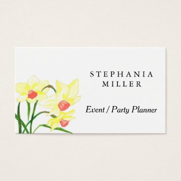 Professional Business Yellow Daffodils Bussiness Cards