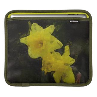 Yellow Daffodils Floral Impressionist iPad Sleeve