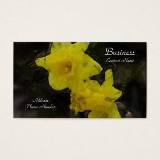 Yellow Daffodils Floral Impressionist Painting Business Card