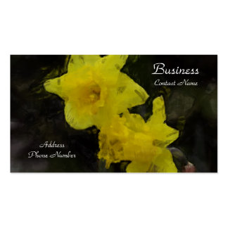 Yellow Daffodils Floral Impressionist Painting Double-Sided Standard Business Cards (Pack Of 100)