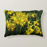 Yellow Daffodils I Cheery Spring Flowers Decorative Pillow