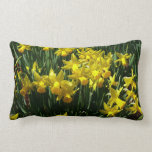 Yellow Daffodils I Cheery Spring Flowers Lumbar Pillow