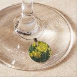 Yellow Daffodils I Cheery Spring Flowers Wine Glass Charm