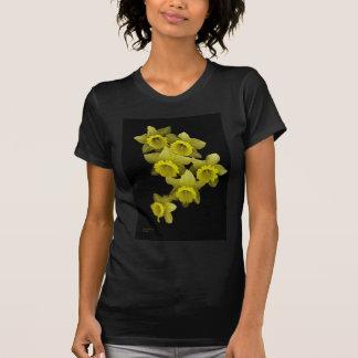 Yellow Daffodils On Black Tshirts