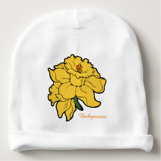 Yellow Daffodils Personalized Baby Beanie
