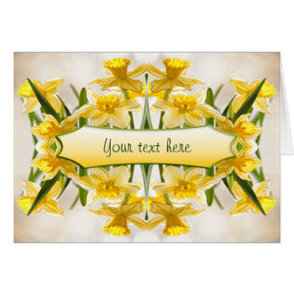 Yellow Daffodils - Thank You Card